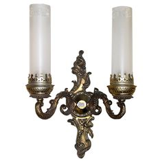 French xix bronze sconce. | From a unique collection of antique and modern wall lights and sconces at https://www.1stdibs.com/furniture/lighting/sconces-wall-lights/