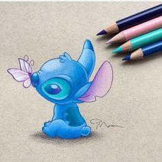 My Disney Drawing - Stitch (Drawing by PiperMiru 😊 😊) . My Disney Drawing - Stitch (Drawing by P . Cute Disney Drawings, Cartoon Drawings, Easy Drawings, Drawing Disney, Lilo Ve Stitch, Disney Stitch, Stitch Tattoo, Stitch Drawing, Cute Stitch