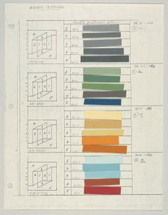 Albers colour sheet.