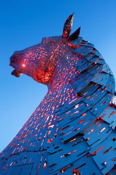 Amazing Horse Head Sculpture Lights up Scottish Skyline - BlazePress
