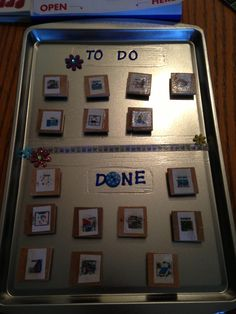 Chore Chart -- I could use this for me weekly.