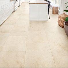 QDIsurfaces Jerusalem x Porcelain Field Tile in Avorio Cream Tile Floor, Large Floor Tiles, Heated Tile Floor, Best Floor Tiles, Ceramic Floor Tiles, Porcelain Tile, Marble Floor Kitchen, Kitchen Tiles, Kitchen Flooring