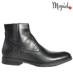 Ghete barbati din piele naturala 118901/1041/Negru/Marcello Chelsea Boots, Shoes, Fashion, Moda, Zapatos, Shoes Outlet, Fasion, Footwear