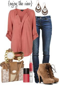 """rose and tan"" by enjoytheview on Polyvore"