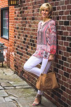 Colorful boho-style tunic   Fabulous After 40