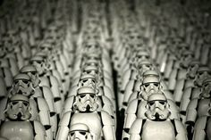 In this photo, you see a repetition of the storm troopers as they assemble. I believe this creates organization and order.