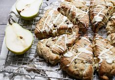 Pear and Ginger Scones with White Chocolate Drizzle