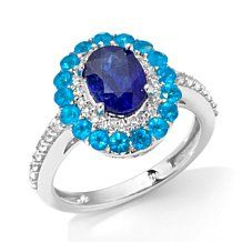 """Colleen Lopez """"Every Now and Gem"""" Sapphire Apatite Ring"""