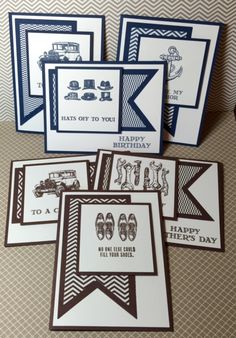 Motorcycle card julies japes an independent stampin up a stack of cards made with the guy greetings stamp set by stampin up bookmarktalkfo Gallery