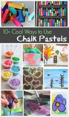 Art Projects and Activities for Kids: Over 10 cool ways to use oil pastels for creating- including stencils, ocean scenes, flowers, and process art!  #artforkids #artideas #artprojects #creativekids