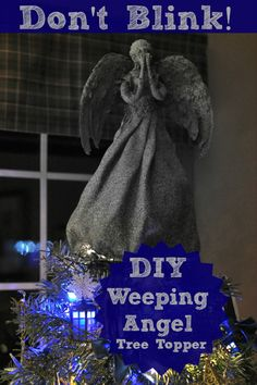 DIY Weeping Angel Christmas Tree Topper this has led me to the decision to have a 100% dr.who themed tree this year