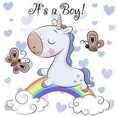 Baby Shower Greeting Card with cute Unicorn boy. Baby Shower Greeting Card with cute cartoon Unicorn boy royalty free illustration Cartoon Giraffe, Cartoon Unicorn, Cute Giraffe, Baby Unicorn, Baby Cartoon, Cute Unicorn, Cute Cartoon, Baby Shower Greetings, Baby Shower Greeting Cards
