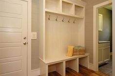 Mudroom Entry   Drop Zone in the Riverbirch -- It needs some jazzing/prettying up but I like the basic idea.