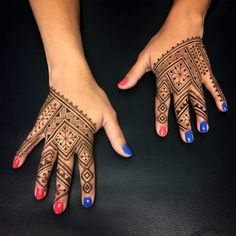 Intricate moroccan fessi style henna hands by henna soul norfolk