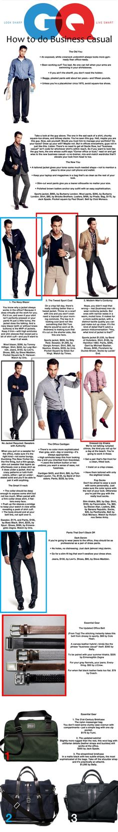How to do business casual.  Men, take note.