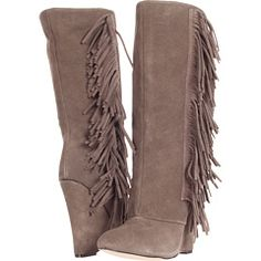 """mia flirty"" frindge wedge boots, I don't know where to find these but I want these too! Size   9 1/2"