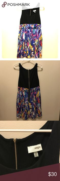 Neiman Marcus mini dress Neiman Marcus mini dress. Worn once. Very comfortable. Long zipper down the back. Neiman Marcus Dresses Mini