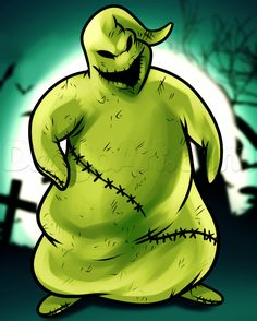 oogie boogie drawing   How to Draw Oogie Boogie from Nightmare Before Christmas, Step by Step ...