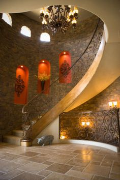 Best staircases!  This is like a castle!