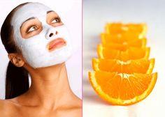 DIY facial mask using baking soda and orange juice.