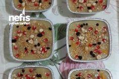 Ölçülü Tam Kararında Aşure 15-17 Kişilik Tarifi nasıl yapılır? 116 kişinin defterindeki bu tarifin detaylı anlatımı ve deneyenlerin fotoğrafları burada. Turkish Recipes, Ethnic Recipes, Protein, Food And Drink, Pudding, Cookies, Breakfast, Sweet, Desserts