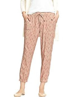 Womens Drapey Cinched Pants- these look comfy for spring.