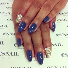 love the bling and the blue...the shape is kind of creepy to me.