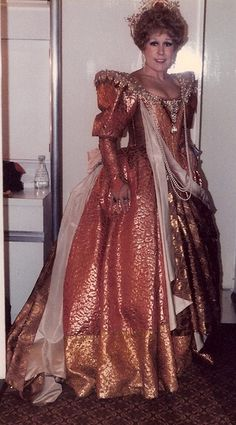 Sarah Walker dressed as Cornelia; Julius Caesar, the English National Opera 1980. Miss Walker sang the role in San Francisco and at the Met.