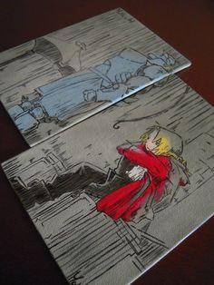 FullMetal Alchemist Canvas by Matita's Art