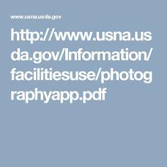 http://www.usna.usda.gov/Information/facilitiesuse/photographyapp.pdf