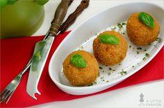 Sizilianische Reisbällchen: Arancini #rezept #recipe #kochen #backen #idee #essen #trend #filizity #kuchen #torte #salat #tafel