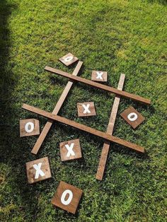 X's and O's Tic Tac Toe Wood Yard Game  - Your guests are sure to have fun at your wedding reception with lawn games galore! From bocce ball to giant jenga, ring toss and more, outdoor lawn games curated by The Garter Girl.  #gartergirl #thegartergirl #lawngames #weddinggames #lawnpainting Outdoor Wedding Games, Lawn Games Wedding, Outdoor Jenga, Yard Jenga, Wedding Reception Games, Outdoor Weddings, Reception Decorations, Diy Yard Games, Backyard Games