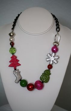 Christmas Necklace - $17.50 http://www.facebook.com/armcandyauctions