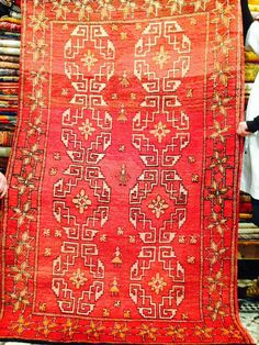 Vintage Red Moroccan Rug circa 1950 – Reloved