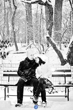 Engagement session. Winter in Central Park