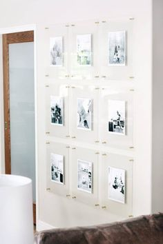 Modern Gallery Wall, Gallery Wall Frames, Frames On Wall, Gallery Walls, Crown Wall Decor, Burlap Wall Decor, Floating Acrylic Frame, Acrylic Frames, Acrylic Picture Frames