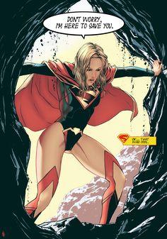 Supergirl New 52 color by ~garnabiuth on deviantART
