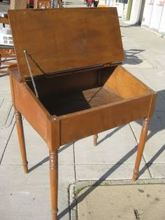 We Could Get A Bunch Of These Old School Desks Off Trademe Sand Them Back