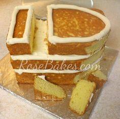 How to Carve a Pirate Ship Cake | http://rosebakes.com/carve-pirate-ship-cake/