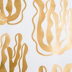 Wayne Pate + Studio Four NYC Seaweeds Wallpaper