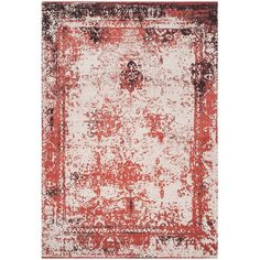 Safavieh Classic Vintage Red Cotton Abstract Distressed Rug (6' 7 x 9' 2) (CLV125B-6), Size 6' x 9'