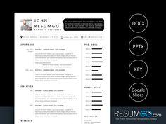 SETHOS – Modern Black & White Resume Template - ResumGO.com Modern Resume Template, Cv Template, Resume Templates, Id Photo, Letterhead Design, Resume Cv, Letter Size, Texts, Lettering