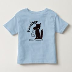 Personalized Cute Big Bad Wolf Toddler T-shirt - tap, personalize, buy right now!