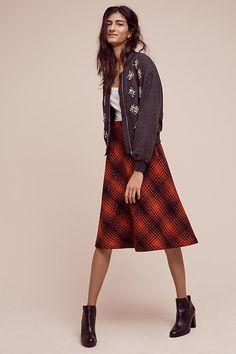 Foxford Plaid Midi Skirt