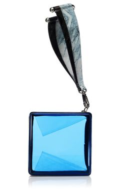 Love this acrylic clutch by Kenzo