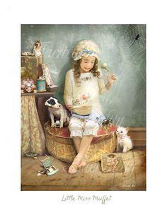 Little Miss Muffet by Charlotte Bird . by CharlotteBirdfairies, $32.00