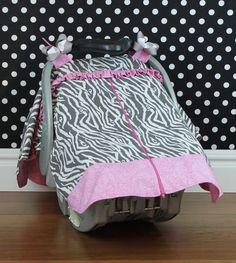 6f1bffc15fa6 Car Seat Canopy Zebra Girl by SassyMcTaffy on Etsy