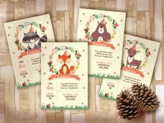 Kit Animalitos del Bosque. Imprimible pesonalizable. Súper adorable! http://www.cocojolie.com.ar/disenos-por-eventos/cumpleanos/kit-animalitos-del-bosque-imprimibles-personalizables/