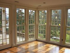 Double hung window- A window with an upper and lower sash. Each sash is carried by cords and weights and slides up and down.