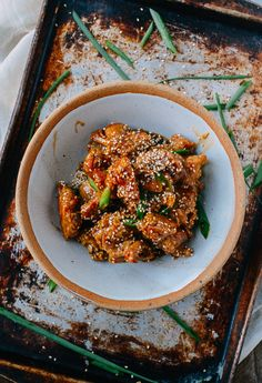 This homemade sesame chicken recipe is just as crispy as the takeout version, but it's oven-fried rather than deep-fried. The sauce is also much tastier!